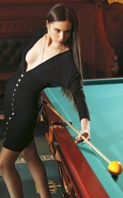 Sexy pool trick shots 7