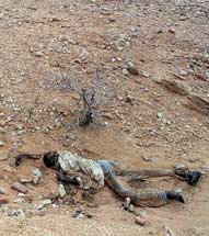 Body in Darfur, Sudan.