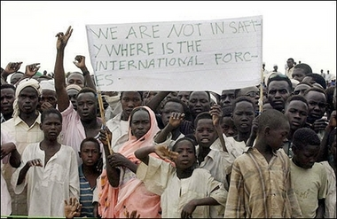 Refugees at the Kalma Camp in south Darfur, in 2005.