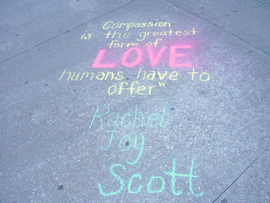 rachel joy scott poetry quotations and art compassion is the greatest form of love humans have to offer rachel joy scott
