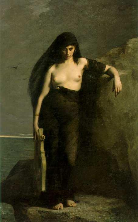 William Adolphe Bouguereau - Sappho in Nero by BitJuice Aka Lopcajan